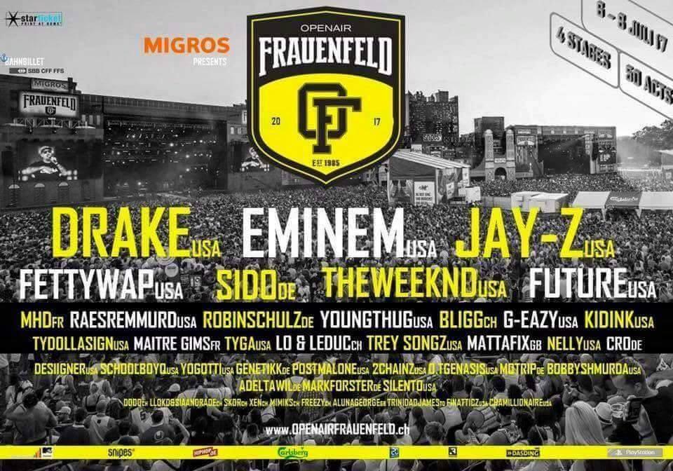 eminem openair frauenfeld 2017, eminem concert 2017, eminem svizzera 2017