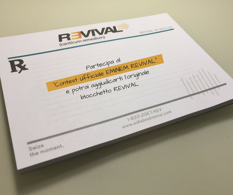 eminem revival, eminem revival bloc notes, eminem revival nuovo album