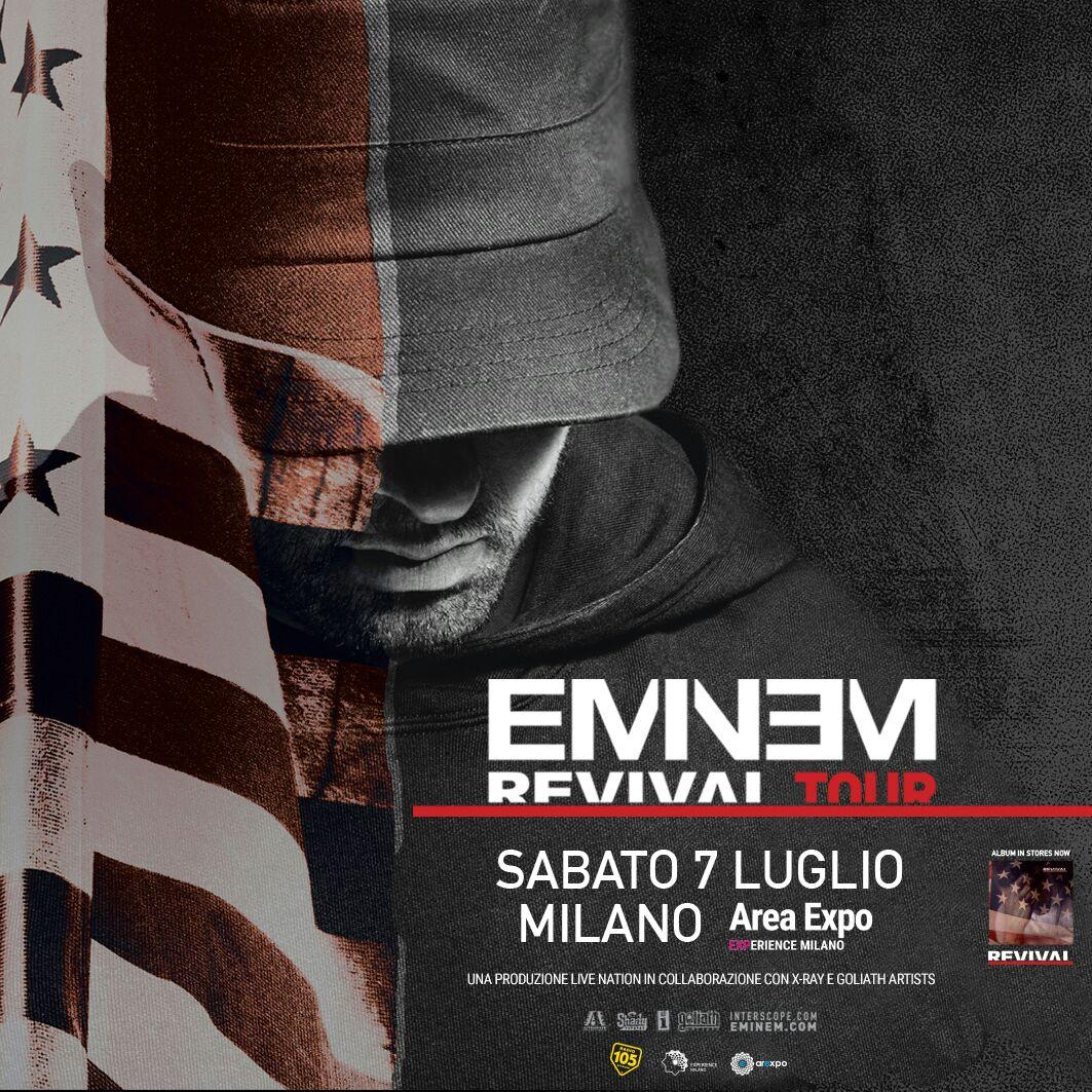 eminem concerto Italia, Eminem milano 2018, eminem revival tour italia