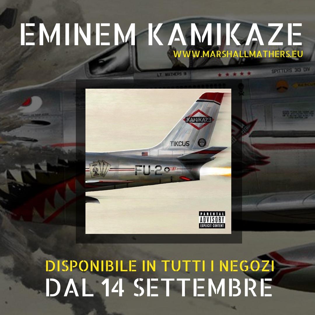 eminem kamikaze, kamikaze album, eminem kamikaze cd italia