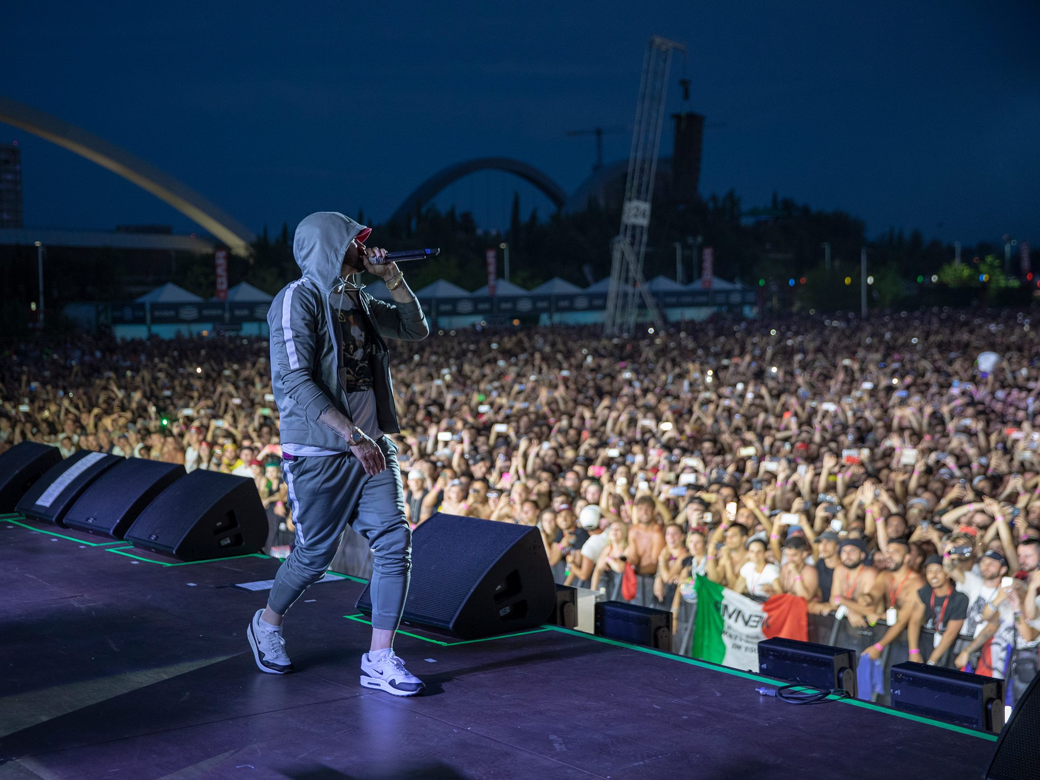 Eminem in concerto a Milano incanta 80.000 persone all´Area Expo
