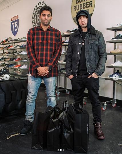 eminem sneaker, eminem sneaker shopping, eminem complex