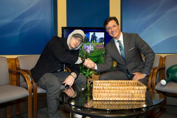 Eminem Intervista Monroe, Eminem intervista late show, Eminem Stephen Colbert