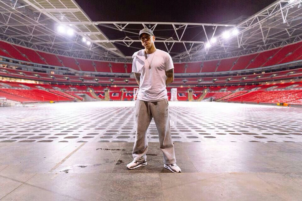 Italiani al Wembley Stadium, concerto di Eminem - Luglio 2014