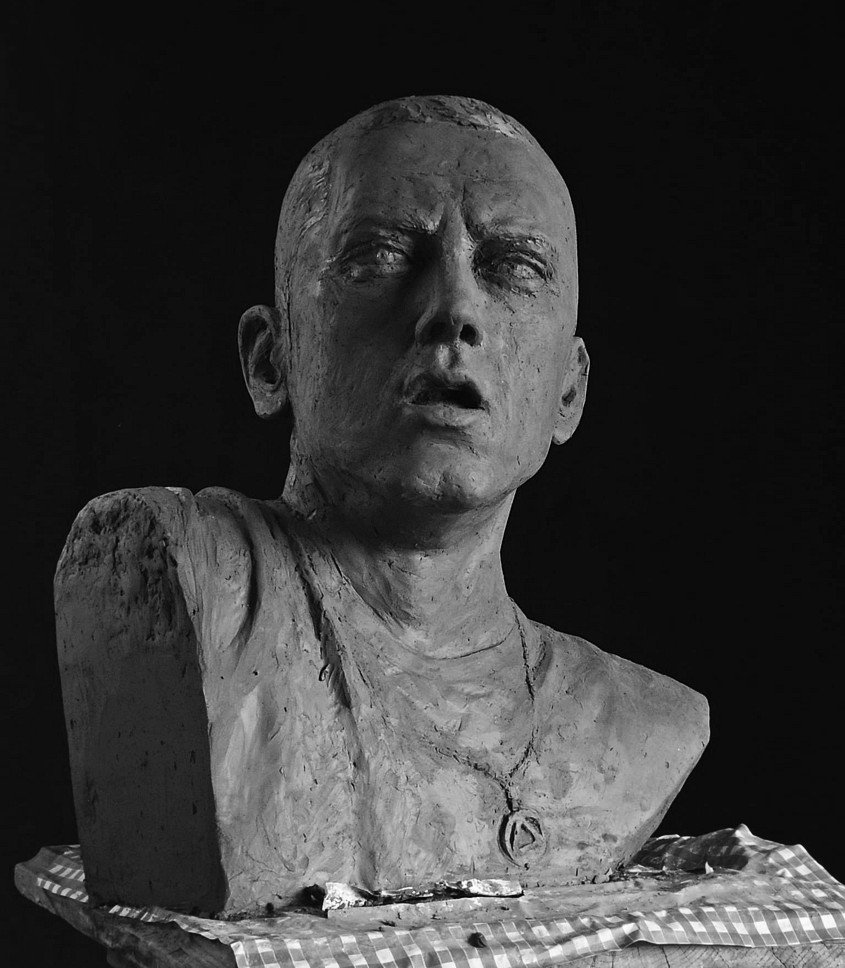 eminem scultura, eminem busto, eminem sculpture