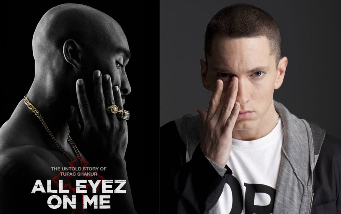 eminem tupac, eminem all eyez on me