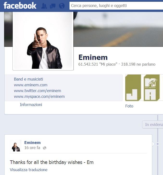 eminem, birthday, compleanno, 40, fans, online, ringrazia, thanks
