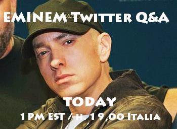 eminem q&a twitter, Eminem twitter, Eminem domande twitter, Eminem risposte twitter, Eminem southpaw