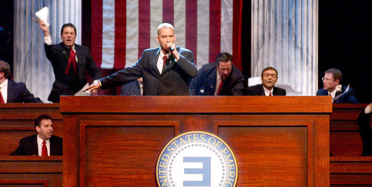 eminem campaign speech, eminem new album, eminem new freestyle, eminem nuovo album