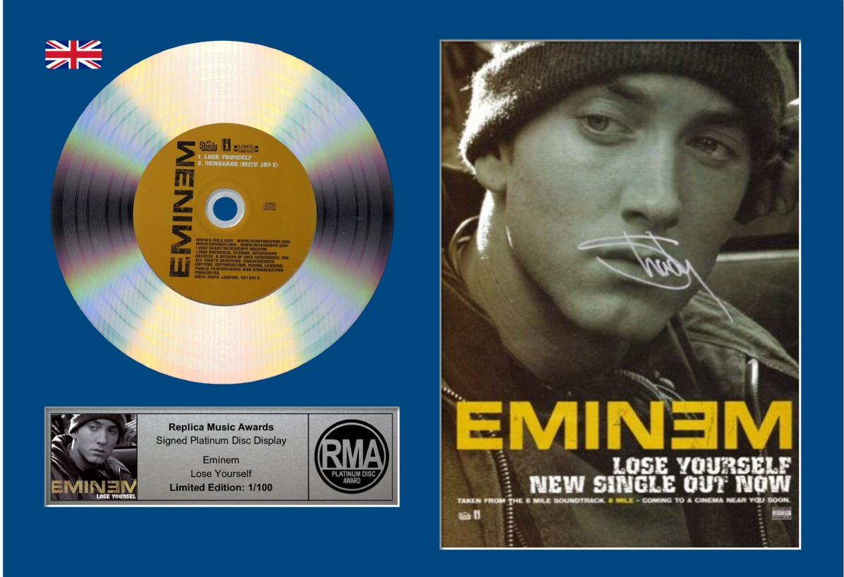 eminem platinum,eminem lose yourself, eminem curtain call