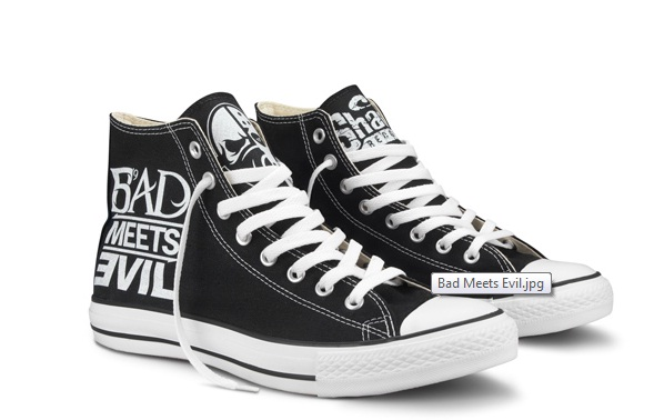 Shady Records, Chuck Taylor, Converse, All Star, Bad Meets Evil, t-shirt