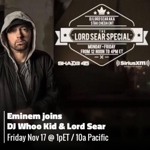 Eminem shade 45, Eminem intervista, Eminem nuovo album