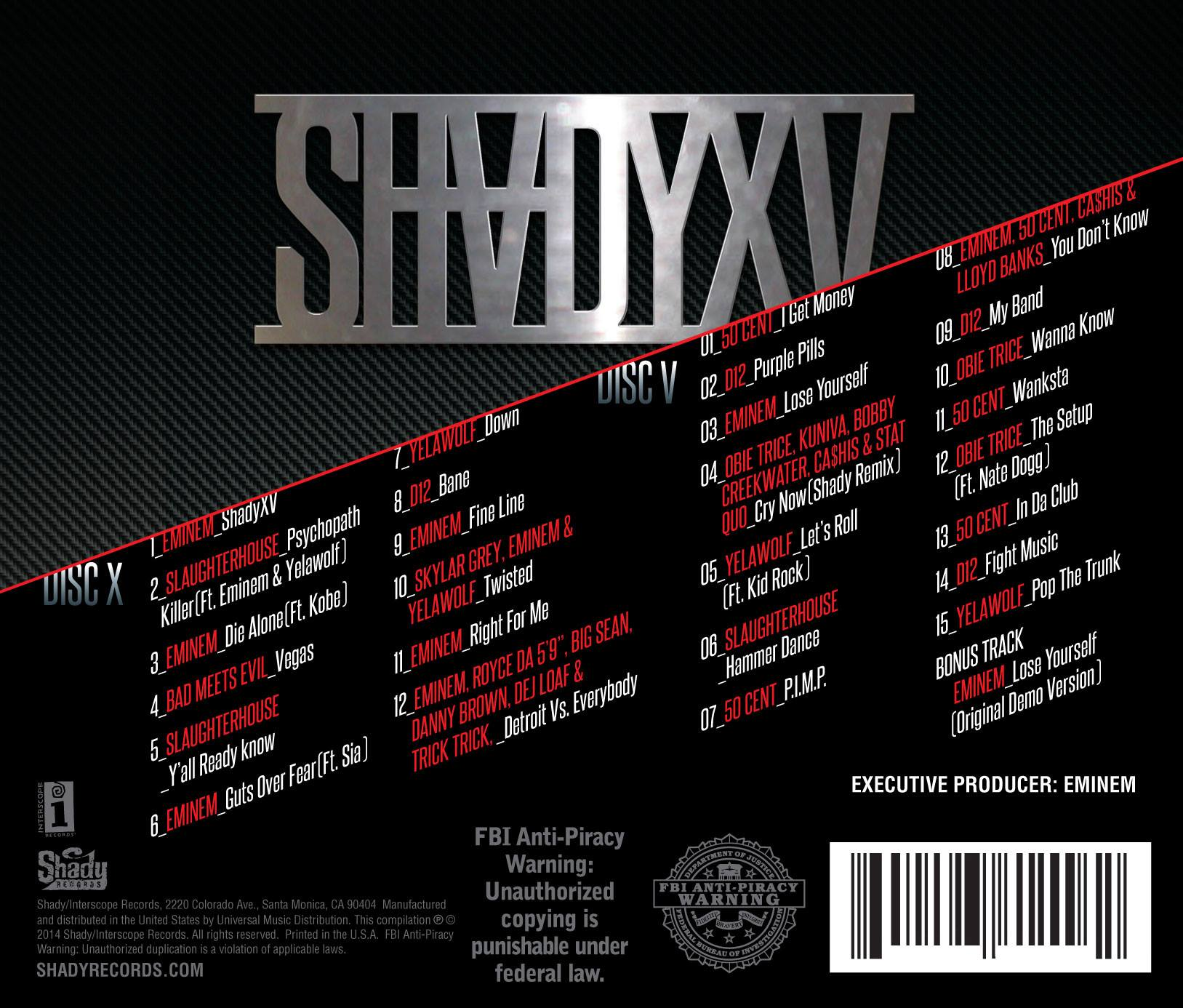 eminem shady xv, shady records shady xv, eminem bad meets evil, d12